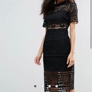 Goldie Perspective Empire Lace Dress